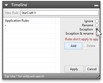 Add Exception rule for StarCraft 2