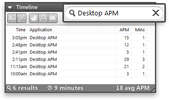 Desktop APM Timeline Search